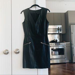 Zara Faux Leather Minidress with Zips S